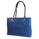 CHANEL matelasse stitch square tote bag caviar skin Lady's upup7