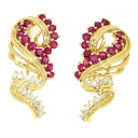 SELECT JEWELRY ruby / diamond earrings K18 yellow gold Lady's upup7