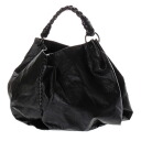 Authentic BOTTEGA VENETA  Semi-Shoulder Shoulder Bag Coating linen