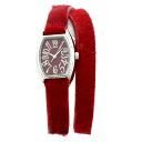 Authentic Plus Vendome Long belt Watch Stainless Red leather Quartz Women