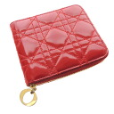 Authentic CHRISTIAN DIOR  Stitch Bifold Wallet with Coin Pocket Enamel