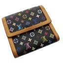 Authentic LOUIS VUITTON  Porutomone-Bie · Cartes Crédit M92984 Bifold Wallet with Coin Pocket Monogram Multicolor canvas