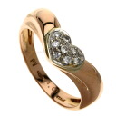 Authentic Ponte Vecchio  Diamond Ring 18K pink gold