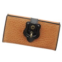 Authentic FENDI  Belt motif (With Coin Pocket) Long Wallet Leather
