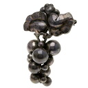 Authentic Georg Jensen  Grape motif Brooch Silver