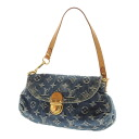 Authentic LOUIS VUITTON  Mini Brie Dee M95050 Handbag Monogram denim
