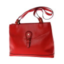 Authentic Courreges  Logo-plate Handbag Leather