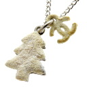 Authentic CHANEL  Tree motif COCO Mark Necklace Metal