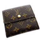Authentic LOUIS VUITTON  Portefeiulle · Elise M61652 Double Sided Bifold Wallet with Coin Pocket Monogram canvas