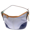 Authentic COACH  One Shoulder Shoulder Bag Canvas x leather