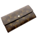 Authentic LOUIS VUITTON  Portefeiulle · Sarah M61734 (With Coin Pocket) Long Wallet Monogram canvas