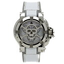 Authentic AQUANAUTIC Princess Cuda skull shell dial Watch SS / Rubber  Quartz Women