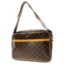 Authentic LOUIS VUITTON  2-layer reporter 37 M45252 double zipper Shoulder Bag Monogram canvas