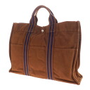 Authentic HERMES  Sac Fourre Tout MM Tote Bag Canvas