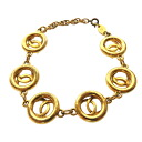 Authentic CHANEL  COCO Mark Bracelet Metal