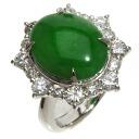 6.68ct Jade Ring PlatinumPT900  13.7