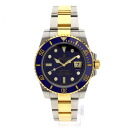 Authentic ROLEX Submariner Date 116613GLB Watch 18K yellow gold SS  Men