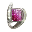 Ruby Ring 18K White Gold  6.6