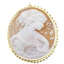 Cameo Brooch 18K yellow gold  13.5