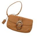 Authentic COACH  Belt design Accessory pouch Leather