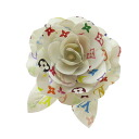 Authentic LOUIS VUITTON  Corsage rose motif Brooch Multi-Color Plat stick