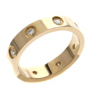 Authentic CARTIER  Minirabu / full diamond Ring 18K pink gold