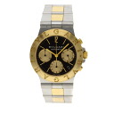 Authentic BVLGARI CH35SG Watch 18K yellow gold SS an automatic Men