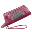 COACH poppy long wallet (there is a coin purse) enamel Lady's fs04gm