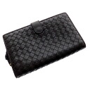 Authentic BOTTEGA VENETA  Intorechato (With Coin Pocket) Long Wallet Leather