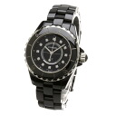 Authentic CHANEL J12 12P diamond Watch Ceramic  Quartz Women