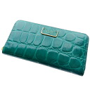 Authentic MARC BY MARC JACOBS  Logo plate with Zip Around Croco embossed (With Coin Pocket) Long Wallet Leather