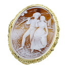 Cameo Amun Dora Brooch 18K yellow gold  15.6
