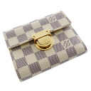 Authentic LOUIS VUITTON  Portefeiulle · Koala N60013 Bifold Wallet with Coin Pocket Damier canvas