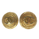 Authentic CHANEL  COCO Mark Earring Metal