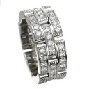 Authentic CARTIER  PANTHERE full diamond Ring 18K White Gold
