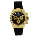 Authentic ROLEX Cosmograph Daytona 116518 Watch 18K yellow gold Black leather an automatic Men