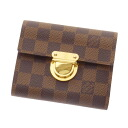 Authentic LOUIS VUITTON  Portefeiulle Koala N60005 Bifold Wallet with Coin Pocket Damier canvas