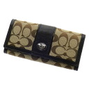 COACH signature long wallet (there is a coin purse) canvas Lady's fs04gm