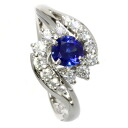 Authentic MIKIMOTO  Sapphire / Diamond Ring PlatinumPT900