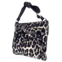 Authentic COACH  Leopard logo plate with Long Shoulder Shoulder Bag Nylon material