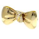 Authentic Van Cleef & Arpels  Diamond ribbon Brooch 18K yellow gold