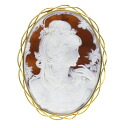 Cameo Brooch 18K yellow gold  36.7