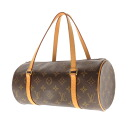 Authentic LOUIS VUITTON  Papillon 27 M51386 Handbag Monogram canvas