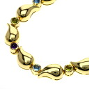 Authentic Chopard  Stains over Lumpur Aquamarine / Amethyst / Peridot Bracelet 18K yellow gold