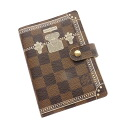 Authentic LOUIS VUITTON  Agenda PM R20968 To Lang design Notebook cover Damier canvas