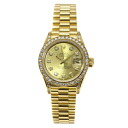 Authentic ROLEX Oyster Perpetual Datejust 69158G Overhauled Watch 18K yellow gold  an automatic Women