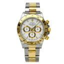 Authentic ROLEX Cosmograph Daytona 16523 Overhauled Watch Stainless 18K Yellow Gold an automatic Men