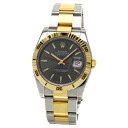 Authentic ROLEX Oyster Perpetual Datejust 116263 Watch Stainless 18K Yellow Gold an automatic Men
