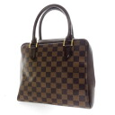 Authentic LOUIS VUITTON  Brera N51150 Handbag Damier canvas