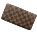 Authentic LOUIS VUITTON  Zippy Wallet N60015 (With Coin Pocket) Long Wallet Damier canvas